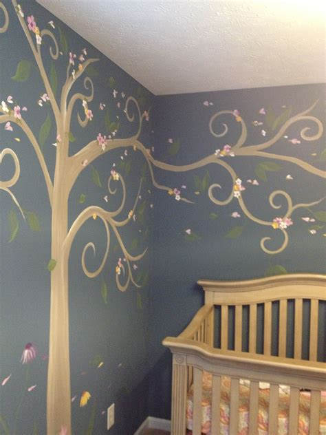 nursery mural tree  colors love