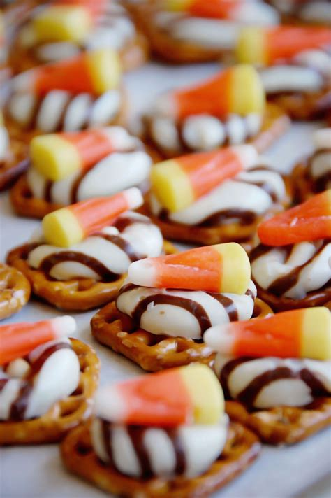 barefoot and baking sweet and salty halloween treats