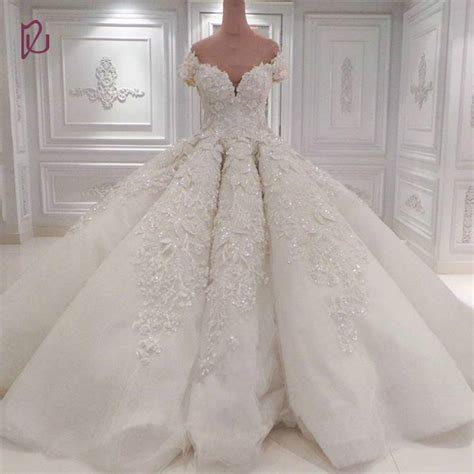 Luxury Wedding Dresses by Dudress Luxury 2017 Wedding Dresses Lace Applique