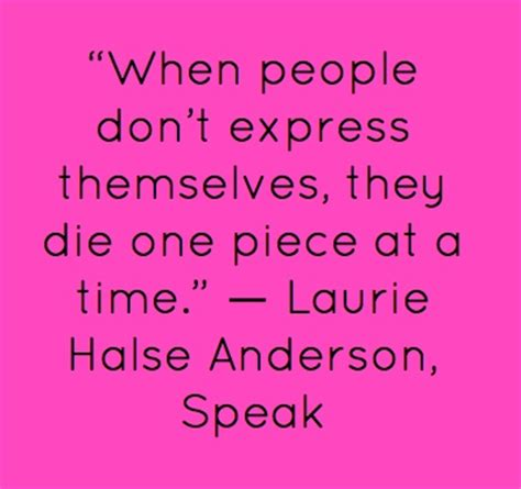 Speak By Laurie Halse Essay by Quote From The Book Quot Speak Quot By Laurie Halse 2014 Greater Rochester Book Festival