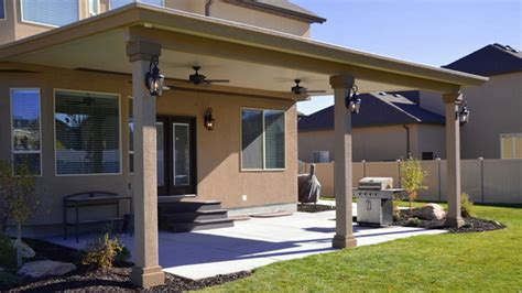 Stucco Trim Patio Covers In Utah Boyd S Custom Patios Stucco Patio Cover Designs