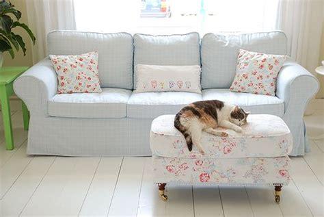 Ektorp Sofa From Ikea With A Classic Ruta Eggshell Blue Light Blue Sofa Slipcover