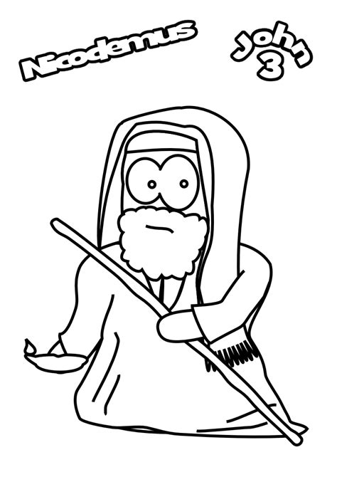 coloring page jesus and nicodemus l034 archives jesus without language