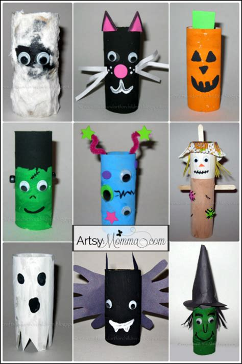 Tissue Paper Roll Craft - cardboard character crafts cardboard