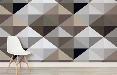 triangle pattern wall cool brown geometric pattern wall mural muralswallpaper