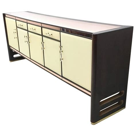 sideboard pink wood and pink mirror sideboard 1940s at 1stdibs