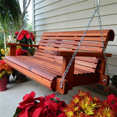 red cedar porch swing southern swings rollback red cedar porch swing with chains