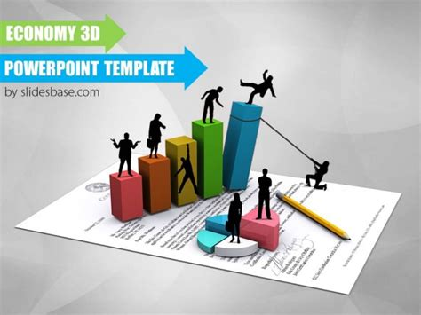 Economy 3d Powerpoint Template Slidesbase 3d Business Ppt Templates Free
