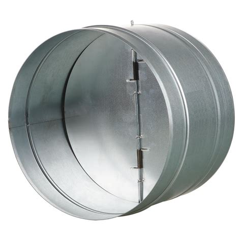 bathroom exhaust fan backdraft der vents us 8 in galvanized back draft der with rubber