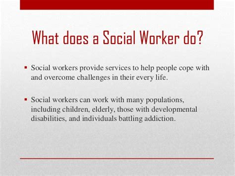 what does in social work at ccc