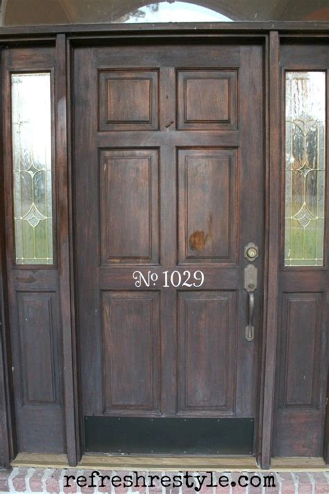 How To Stain Front Door Discover And Save Creative Ideas