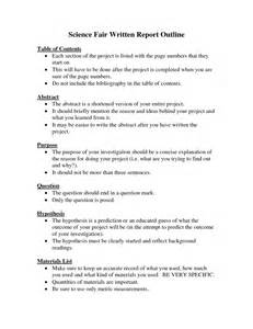 science project template science fair report exle pictures to pin on