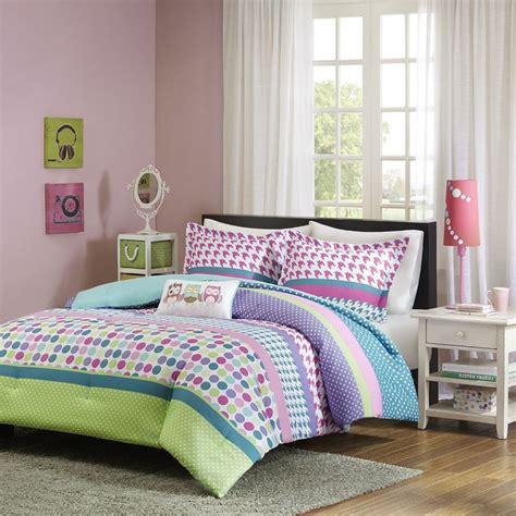 polka dot comforter set twin violette pink justimg com