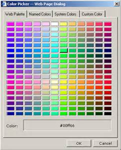 html color code picker color picker for your web site a html component