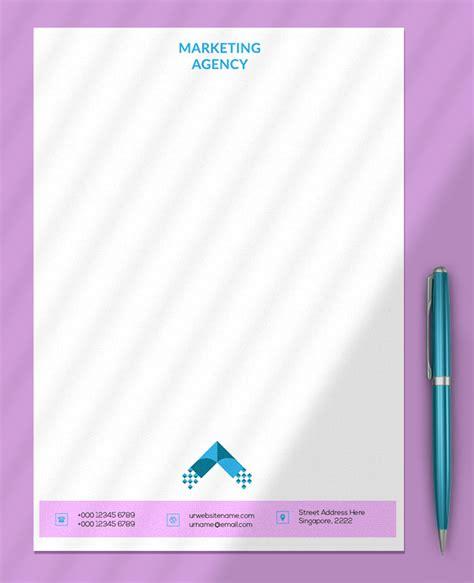 marketing agency letterhead psd design room surfcom