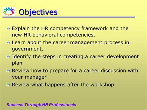 objectives for career development competencies and career development for the general hr