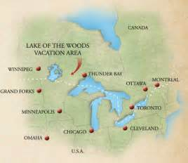 lake of the woods canada map lake of the woods vacation area guide 187 location