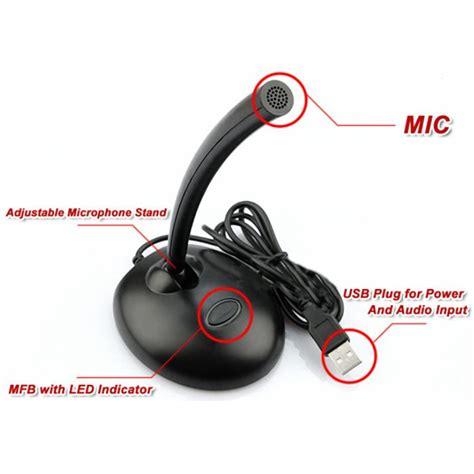 Mic Usb Untuk Laptop jual mini usb mic mikrofon dudukan mute on pc
