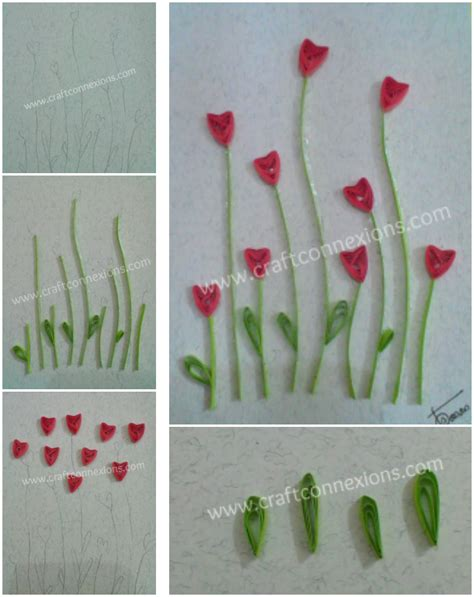 paper quilling tutorial step by step paper quilling long stemmed flowers tutorial step by