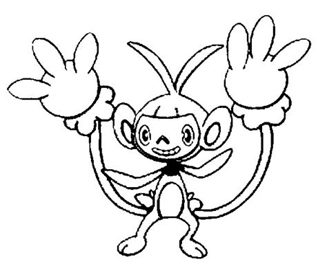 pokemon coloring pages aipom free coloring pages of ambipom
