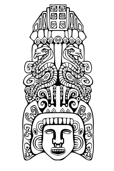 printable aztec mask free coloring pages of inca mask