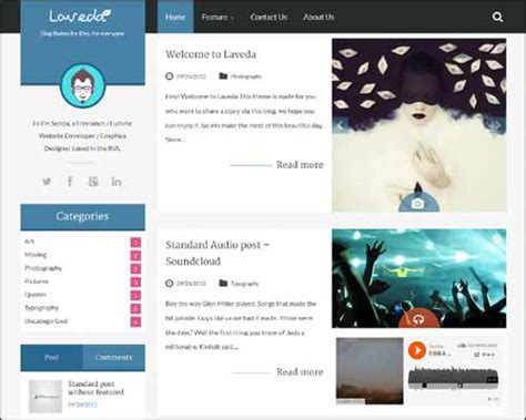 theme blog html 100 kişisel personel wordpress blog teması aorhan blog