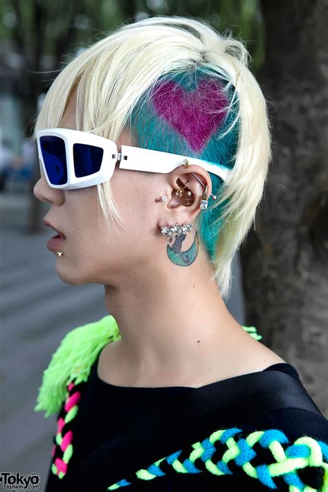 heartbeat hair tattoo japanese guy s hair heart jeremy scott x adidas pandas