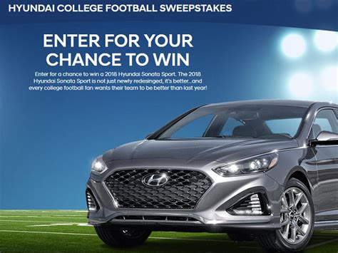Football Hyundai Sweepstakes - tell murphy usa feedback in customer survey sweepstakesbible