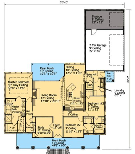 Acadian Style Floor Plans by 3 Bed French Acadian House Plan 56327sm 1st Floor