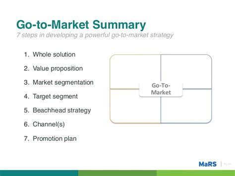 Mbm Vs Mba by Go To Market Strategy Entrepreneurship 101 2012 2013