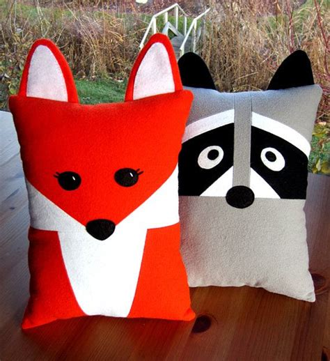 fox raccoon pillow pattern pdf sewing tutorial baby