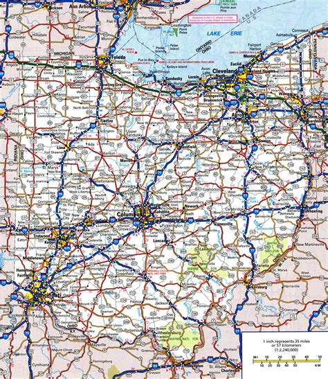 state of ohio map of ohio all cities search engine at search