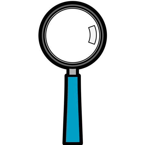 How To Make A Magnifying Glass Out Of Paper - magnifying glass magnifier glass clip at vector clip