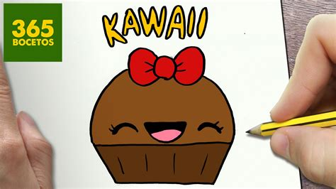 Imágenes Kawaii Fáciles De Hacer | como dibujar cupcake kawaii paso a paso dibujos kawaii
