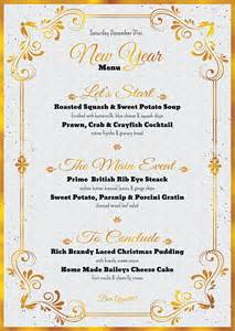 New Years Menu Template by New Year Menu Template Tds
