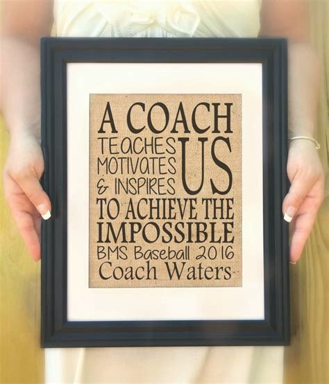 unique gifts for baseball personalized gift for coach a coach teaches us motivates