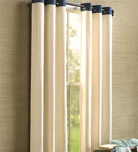 banded curtains banded insulated grommet top curtains 40 quot w x 63 quot l ebay