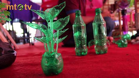 kit hiasan bunga  bonsai berbahan dasar botol plastik