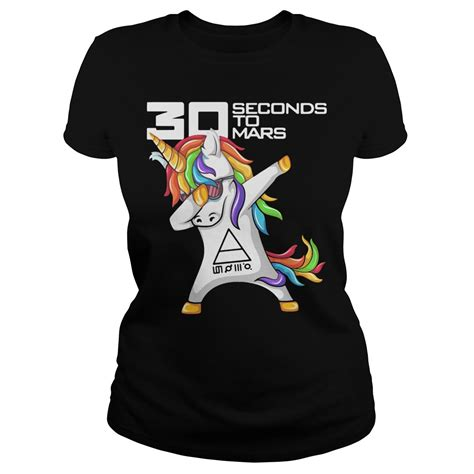Tshirt 30second To Mars official unicorn dabbing 30 second to mars shirt hoodie