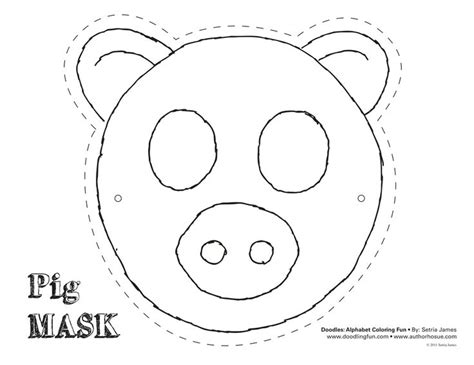 printable pig nose mask pig mask theatrics kiddos play craft coloring