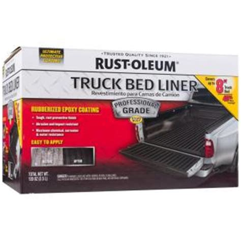 rustoleum bed liner spray rust oleum automotive 1 gal professional grade truck bed