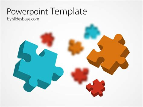 3d Colorful Puzzle Powerpoint Template Slidesbase Puzzle Pieces Template For Powerpoint