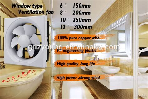 window exhaust fan for bedroom household full plastic window exhaust fan for bathroom and