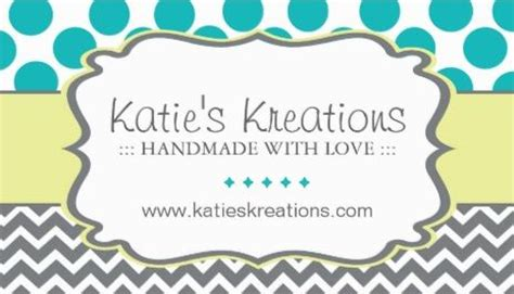 Business Cards For Handmade Crafts - whimsical chevron and dots handmade crafts boutique