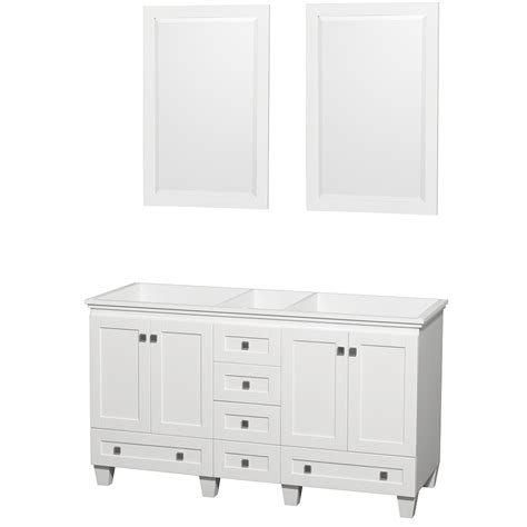 Mirror For 60 Inch Vanity by Wyndham Collection Wcv800060dwhcxsxxm24 Acclaim 60 Inch