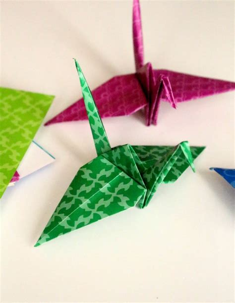 Folding Paper Cranes - grief a paper crane is more than just paper