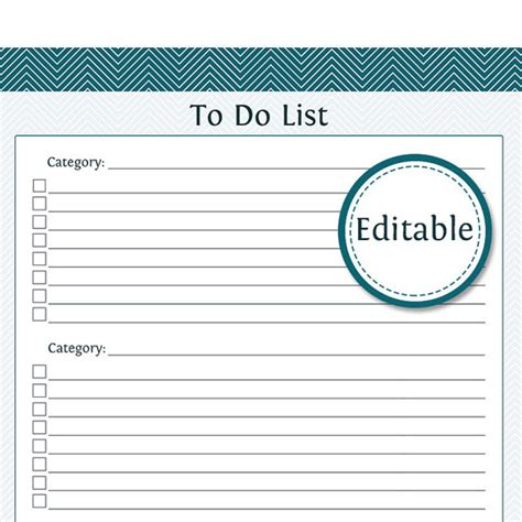 printable and editable to do list template printable images gallery category page 48