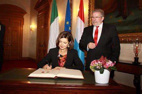 chi e il presidente della dei deputati visita ufficiale in lussemburgo della presidente della