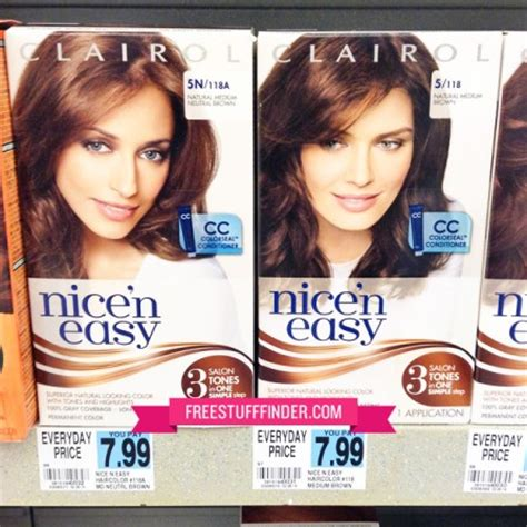 clairol ads current 2014 3 99 reg 8 clairol nice n easy hair color at rite aid