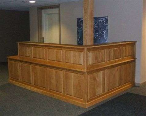 built in reception desk furniture built in projects of creative carpentry inc